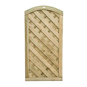 Forest Garden 6ft Europa Dome Wooden Gate