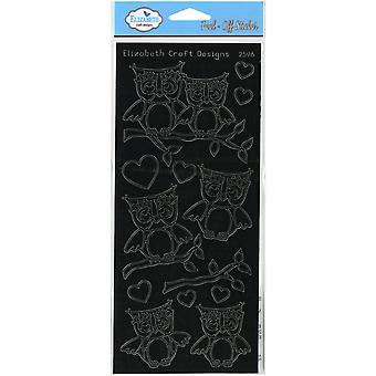 Lots Of Owls Peel-Off Stickers-Black