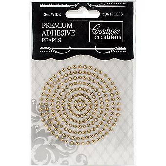 Couture Creations Self-Adhesive Pearls 3mm 206/Pkg-Glamorous Gold
