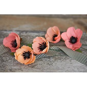 Double-Sided Extra Fine Crepe Paper 2/Pkg-Honeysuckle/Coral & Apricot/Light Rose