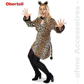 Las mujeres leopardo traje traje de camisa grande leopardo túnica las mujeres