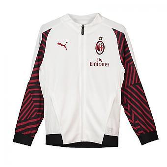 2018-2019 AC Milan Puma Stadium Training Jacket (White) - Kids