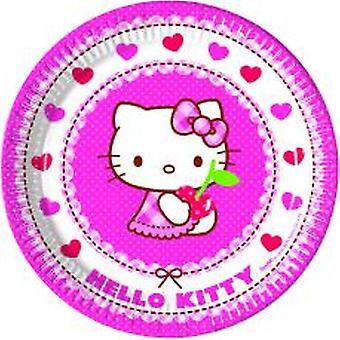 Hello Kitty Hearts Kätzchen Party Teller Ø 23 cm 8 Stück Kindergeburtstag Mottoparty