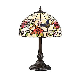 Interiors 1900 Butterfly Single Light Tiffany Table Lamp