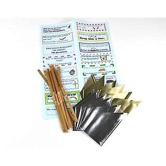 12 Silver Hats, MINI Snaps & Jokes Pack for Small Crackers