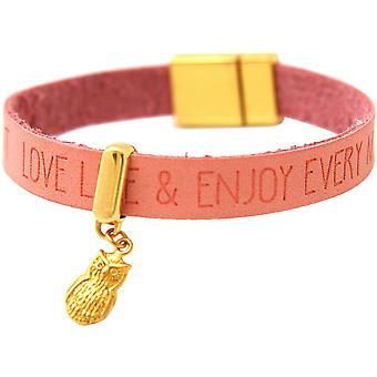Gemshine - damer - guldpläterad armband - UHU - rosa rosa - magnetlås - önskemål-