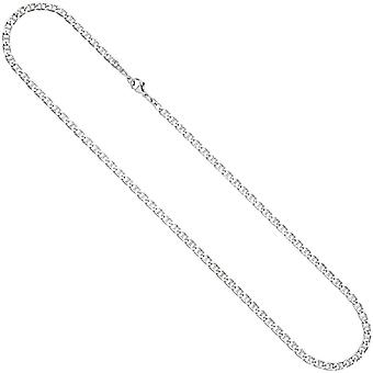 Necklace chain 925 sterling silver rhodium plated 60 cm silver chain carabiner