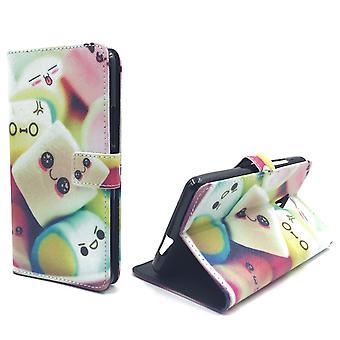 Handyhülle Tasche für Handy Wiko Robby  Schriftzug Marshmallows