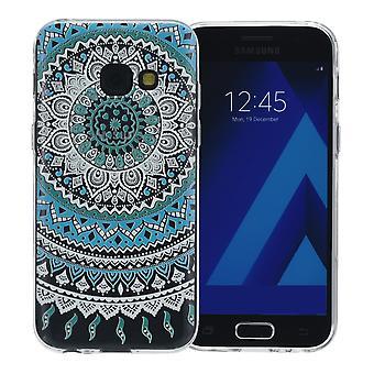 Capa do Henna para Samsung Galaxy S9 silicone de tampa protetora azul do sol
