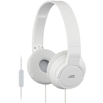 JVC HA-SR185/W Lightweight Powerful Bass Headphone/Earphone with Remote & Mic