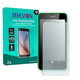 Nokia  Lumia 630 Dual Sim Screen Protector - Mikvon Clear (Retail Package with accessories) (intentionally smaller than the display due to its curved surface)