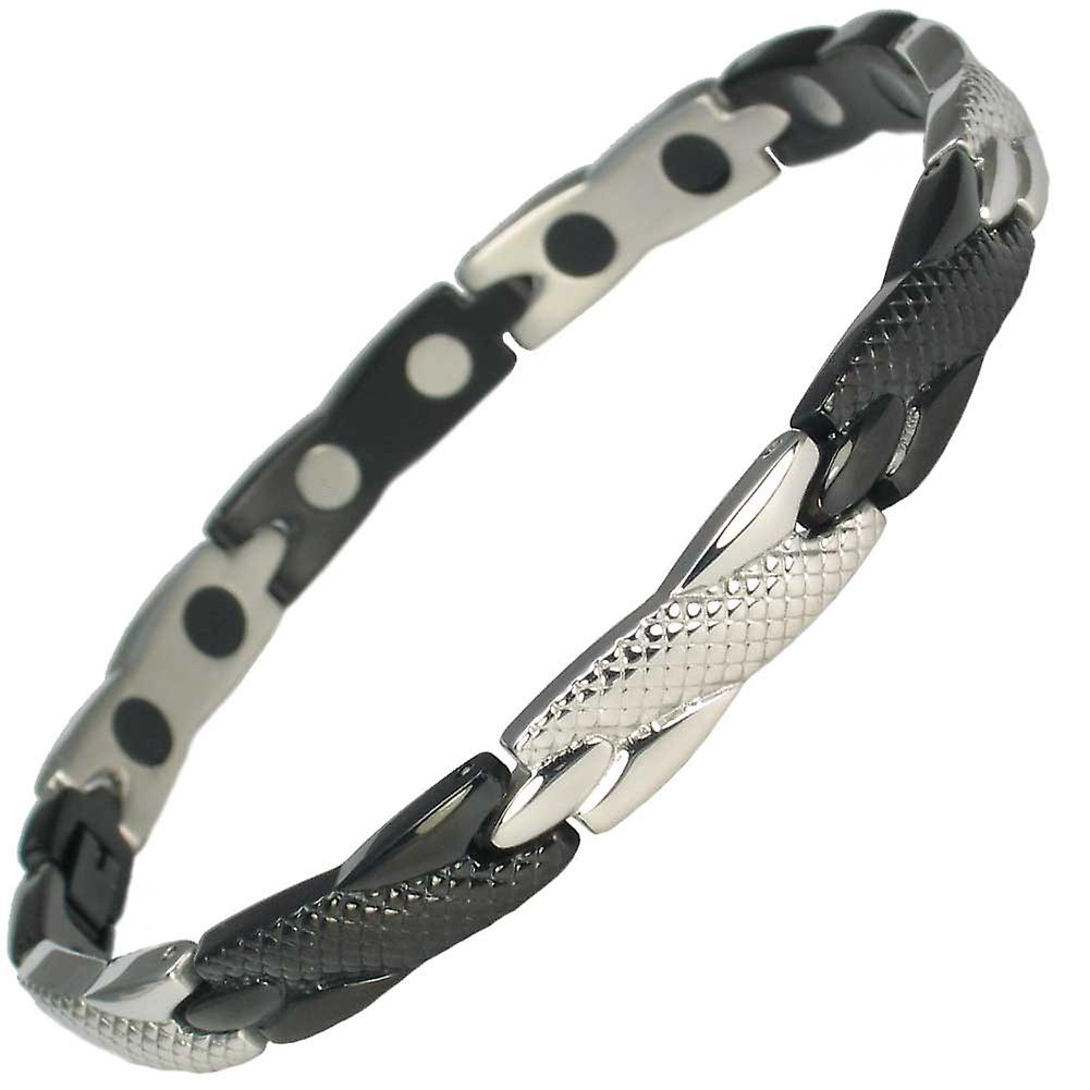 MPS® Gold-Silver Stainless Steel ADANA Magnetic Bracelet + FREE Resizing Tool