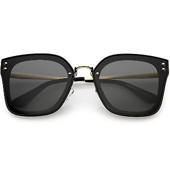 Women's Oversize Square Sunglasses Metal Arms Polarized Lens 60mm