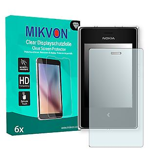 Nokia Asha 503 Dual SIM Screen Protector - Mikvon Clear (Retail Package with accessories)