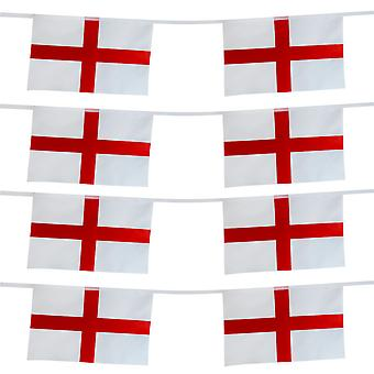 TRIXES 15 Foot England St George Rectangular 8 Flag Bunting Garland for National Celebrations