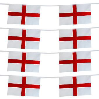 TRIXES 15 piedi Inghilterra St George rettangolare 8 bandiera Bunting Garland per celebrazioni nazionali
