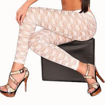 Waooh - Fashion - lang Leggings gemustert Blume 'Naomi'