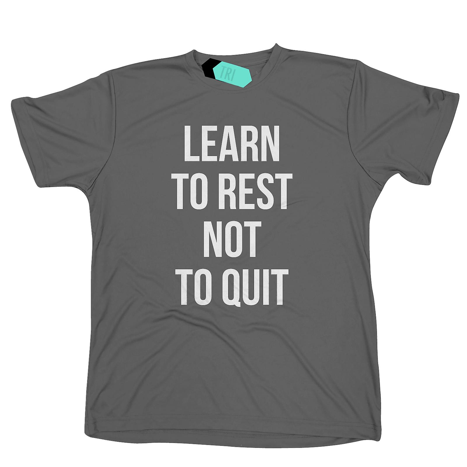 Learn To Rest, Not To Quit Mens Tridri Activewear Top