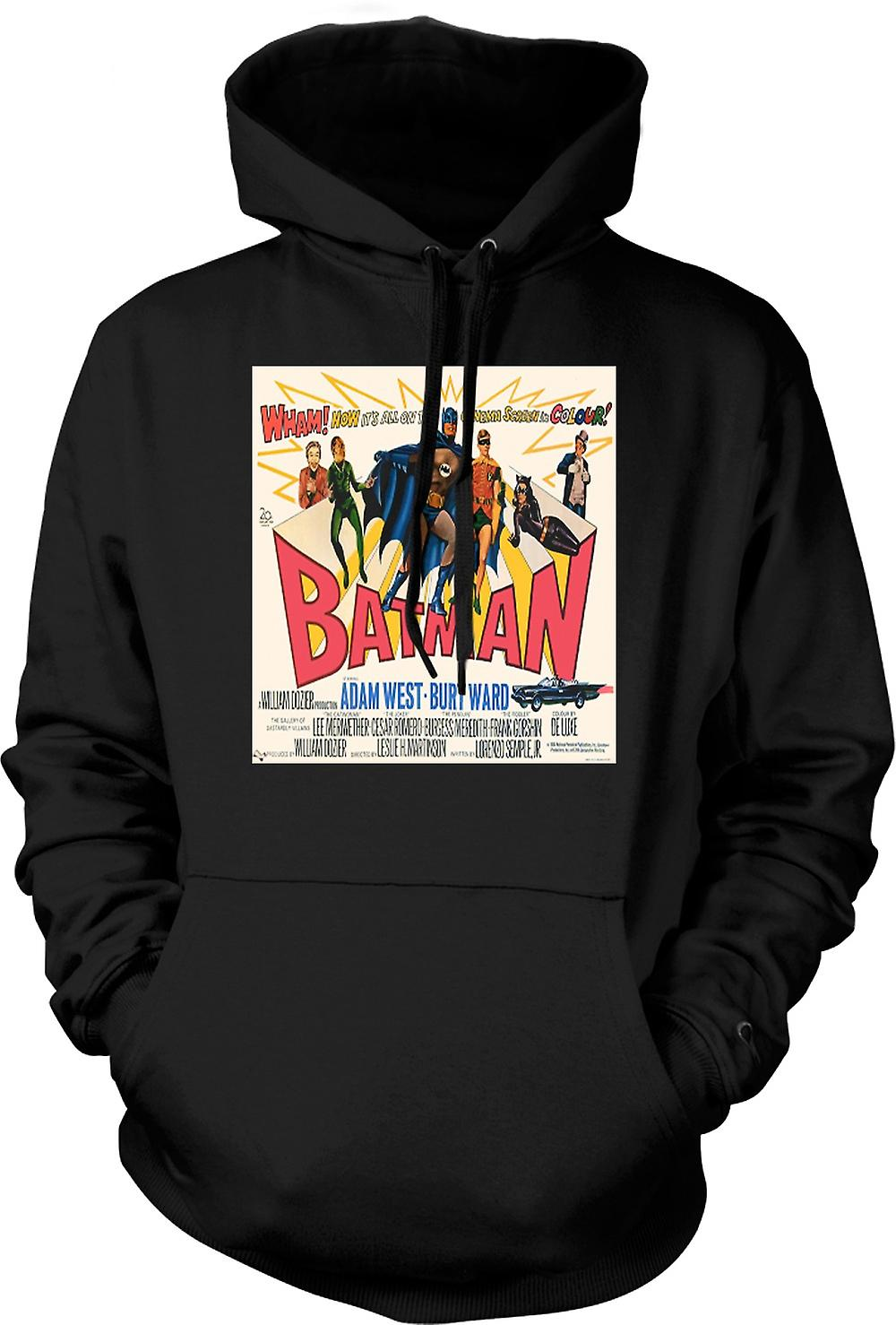 Mens Hoodie - Batman Adam West - classico B Movie - Poster