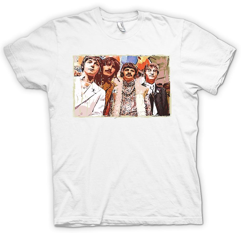 Womens T-shirt - The Beatles - Psyschedelic Rock n Roll