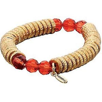 Fiorelli Goldtone and Red Bead Stretch Candy Bracelet B4036