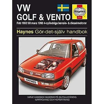 Vw Golf III & Ventro (Swedish) Service and Repair Manual (Haynes Service and Repair Manuals)