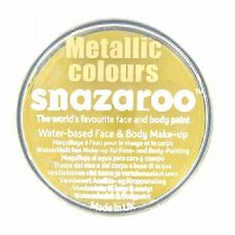 Snazaroo Face And Body Paint, Metallic Gold, Water Based 18ml