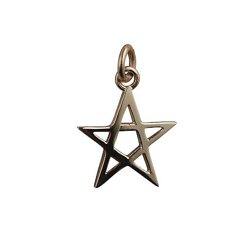 9ct Gold 19x19mm Pentangle pendant
