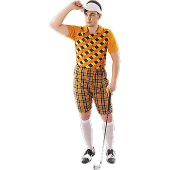 Costumes Orion Hommes Orange Pub Golf Sport Stag Night Fun Costume Dress