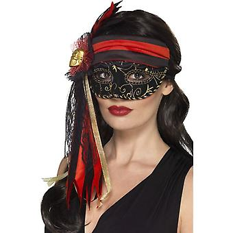 Womens Masquerade piraat Eyemask Fancy Dress accessoire