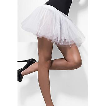 Womens White Tutu Underskirt  Fancy Dress Accessory