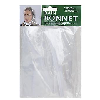 TRIXES 3x -Women's Rain Bonnet – Vintage Style - Clear Transparent - Water Resistant – One Adult Size Protective Hood