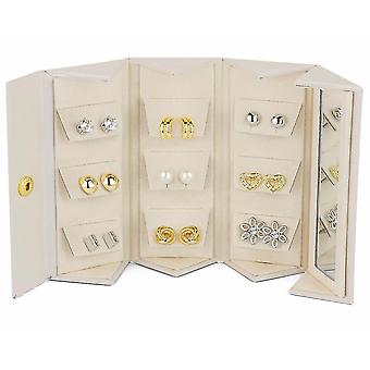 Pierre Cardin 9 sets of ladies earrings multicolor gift set