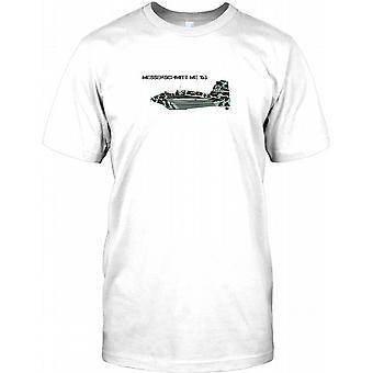 Messerchimitt ME163 - Luftwaffe Kämpfer Flugzeuge Herren T Shirt