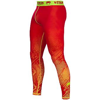 Venum Mens Fusion Compression Spats - Orange/Yellow