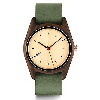 D.W.Y.T DW-00105-5016 - watch leather green wood Brown woman