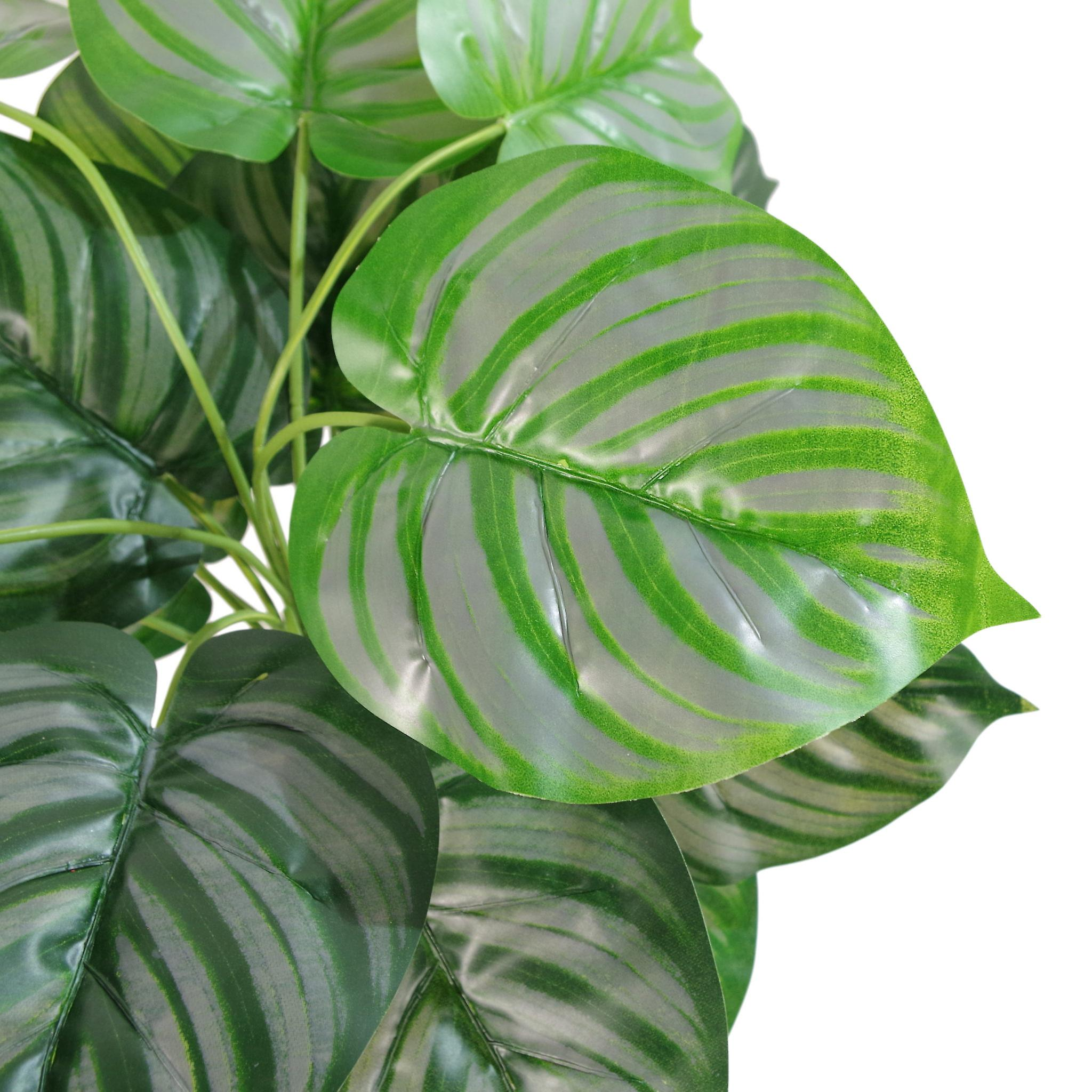 45cm  Artificial Green Stripe Leaf Plant