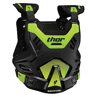 Thor Black-Green Sentinel GP Kids MX Chest Protector