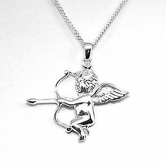 The Olivia Collection Sterling Silver Cherub Pendant On 18 Inch Chain
