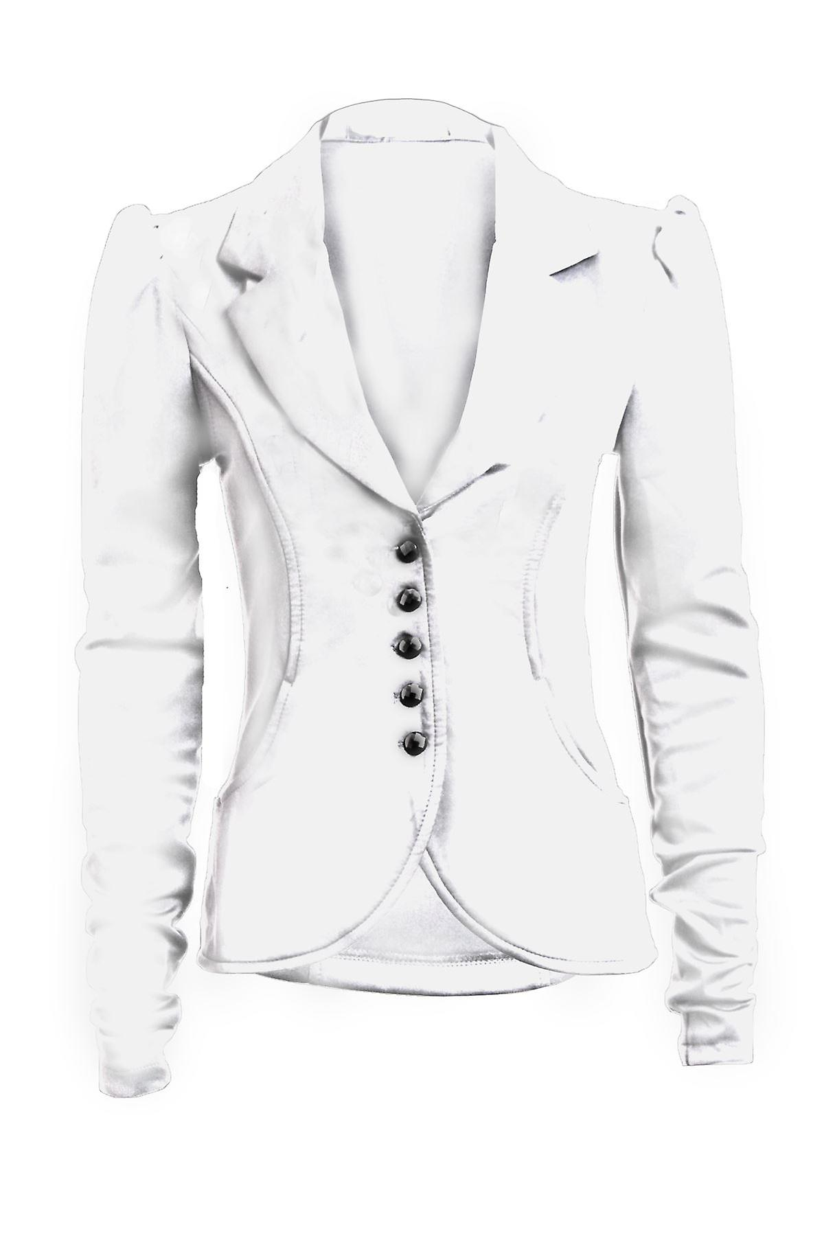 New Ladies Long Sleeve 5 Button Slim Fit Smart Pocket Women's Blazer