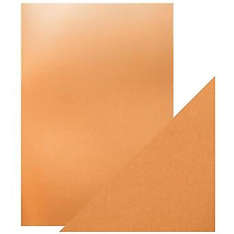 Craft Perfect Tonic Studios A4 Mirror Card Satin Effect Copper Mine Pack of 5