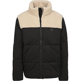 Urban Classics Men's Winter Jacket Sherpa Mix Boxy Puffer Jacket