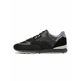Android Homme  Android Homme Black & Silver Carbon Belter 2.0 Sneaker
