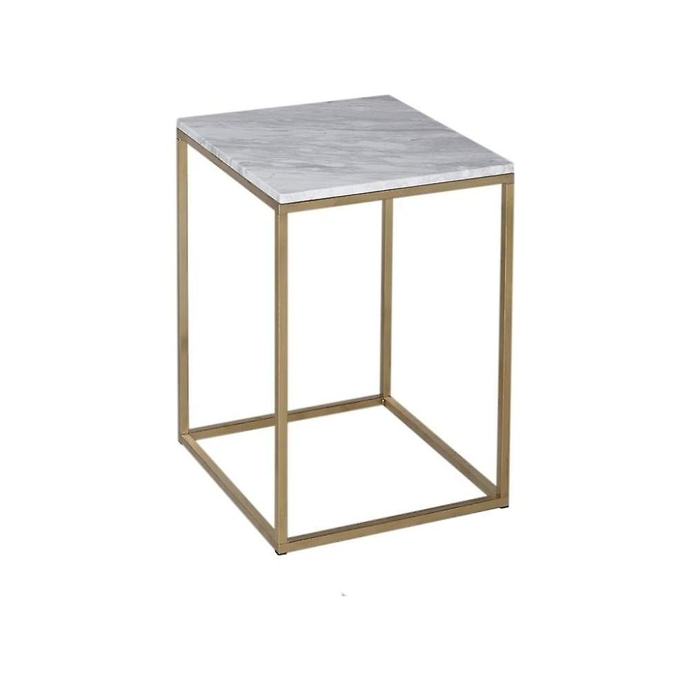 Gillmore Space blanc Marble And or Metal Contemporary Square Side Table
