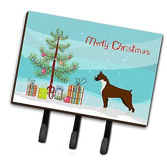 Carolines Treasures  CK3526TH68 Boxer Christmas Tree Leash or Key Holder