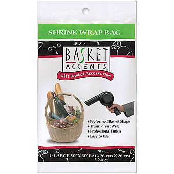 Basket Accents Shrink Wrap Bag Large 30