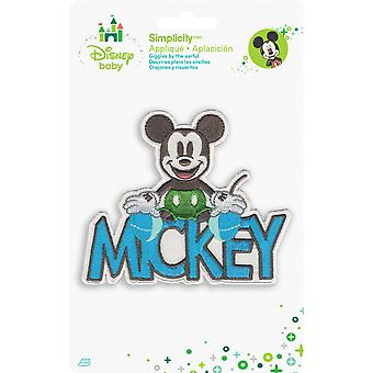 Disney Mickey Mouse Mickey With Name Iron On Applique 19361600