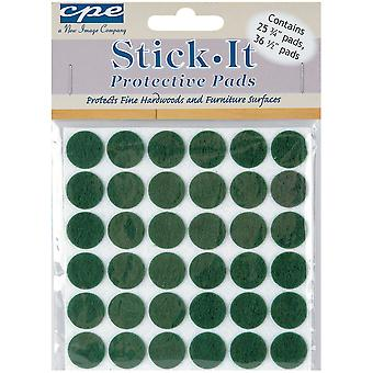 Stick It Felt Protective Pads Assorted 61 Pkg Green 304 66
