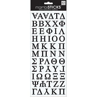 Puffy Stickers Greek Alphabet  Black Psp 28