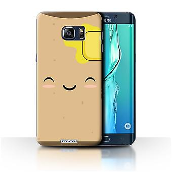 STUFF4 Case/Cover for Samsung Galaxy S6 Edge+/Toast/Kawaii Food